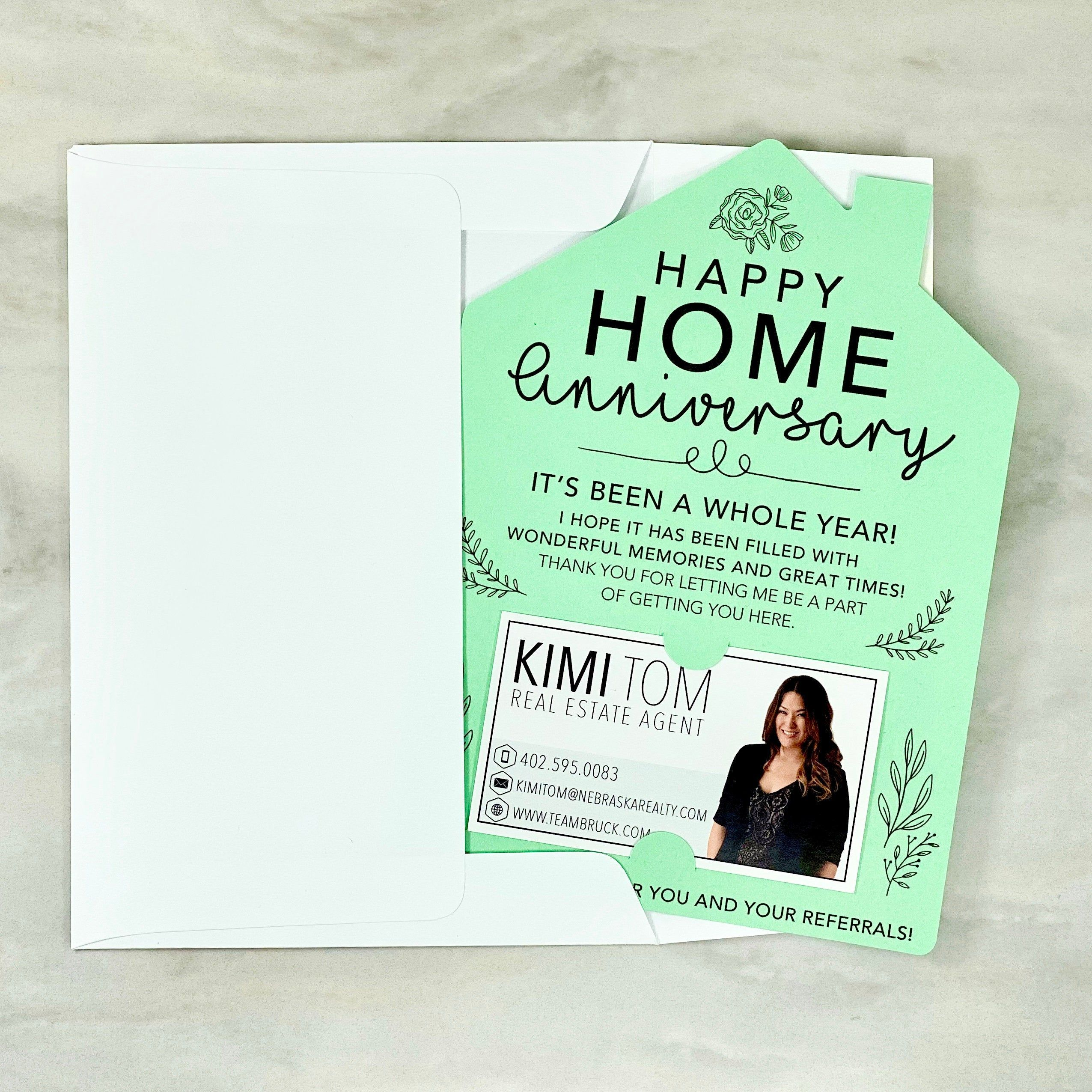 SET of Happy Home Anniversary Cards | Real Estate Agent Card | House Anniversary Card | Home Anniversary Card | Real Estate, Mortgage Mailer