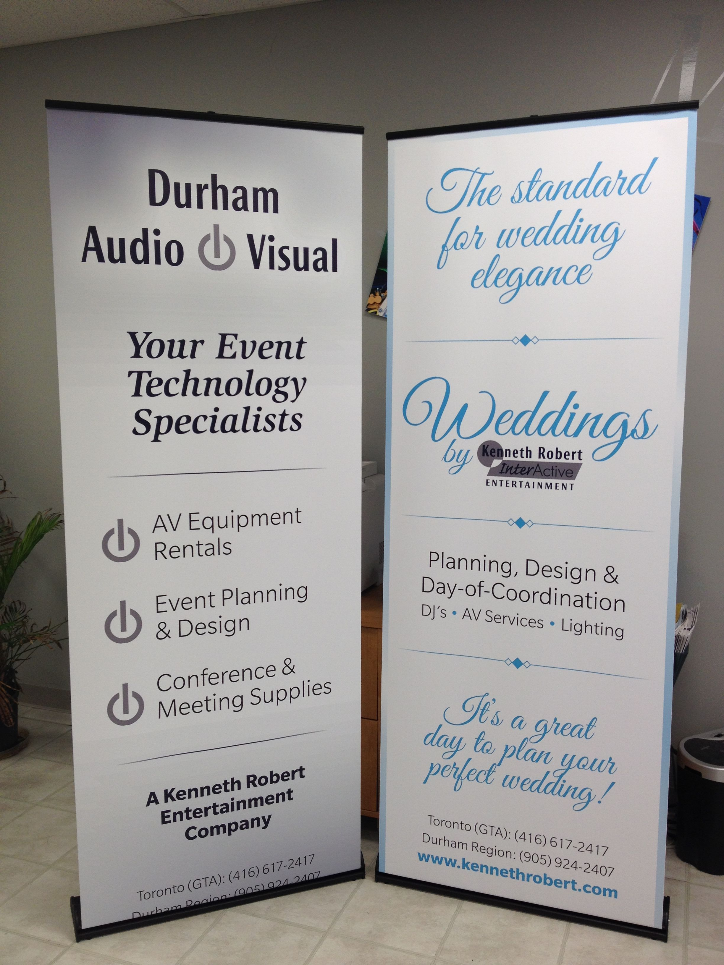 the last of the retractable banner stands for today completed for rh pinterest com