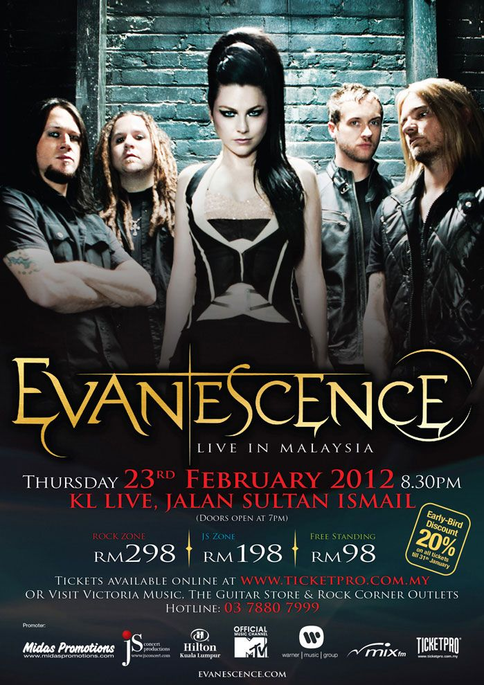 Evanescence 8 Photo Rock Band Print Heavy Metal Legends Picture Music Poster