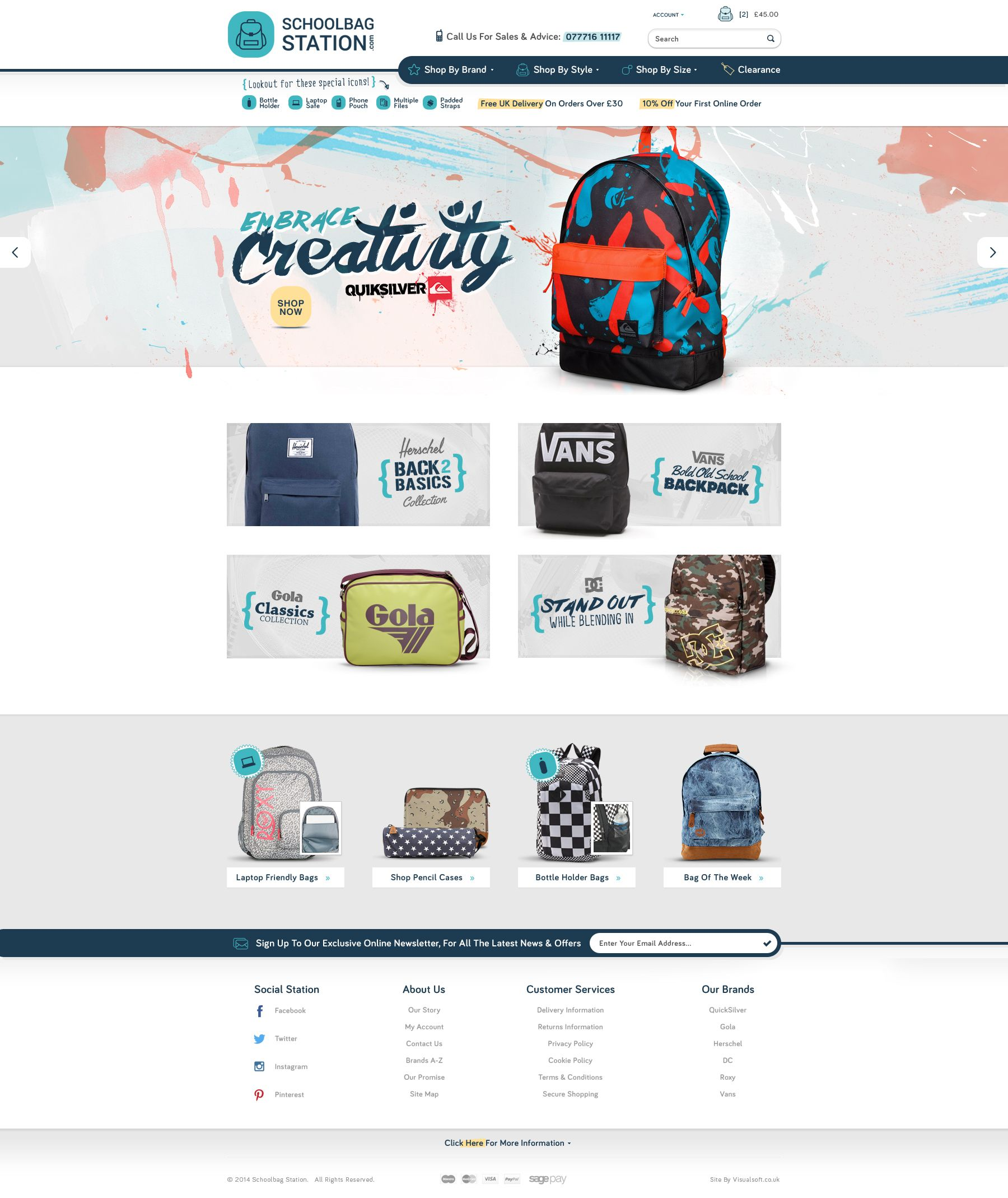 schoolbag web design inspiration web design inspiration web rh pinterest ca