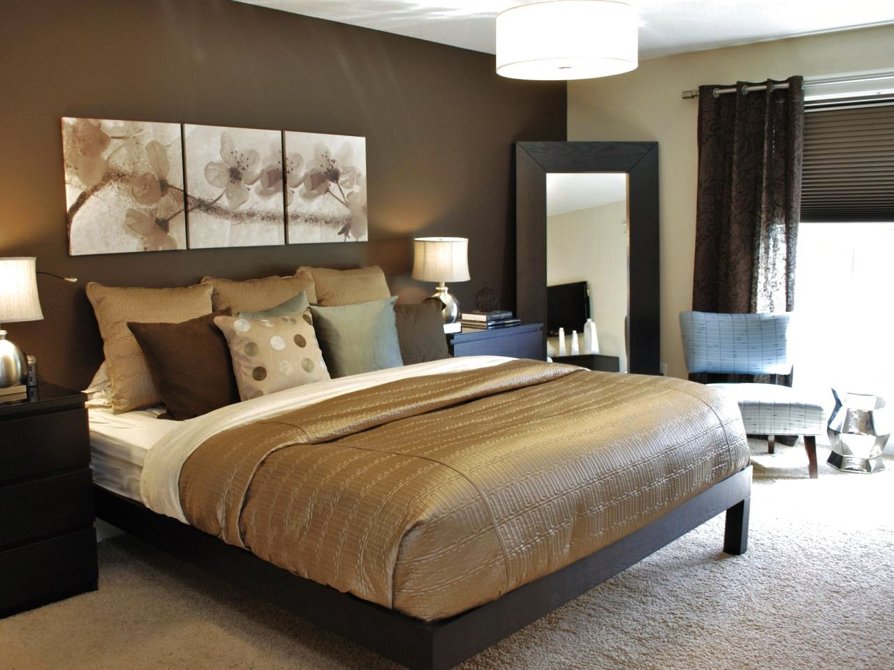 Awesome Brown Bedroom Ideas Color Schemes For The Luxury Within - Design on a dime ideas bedroom