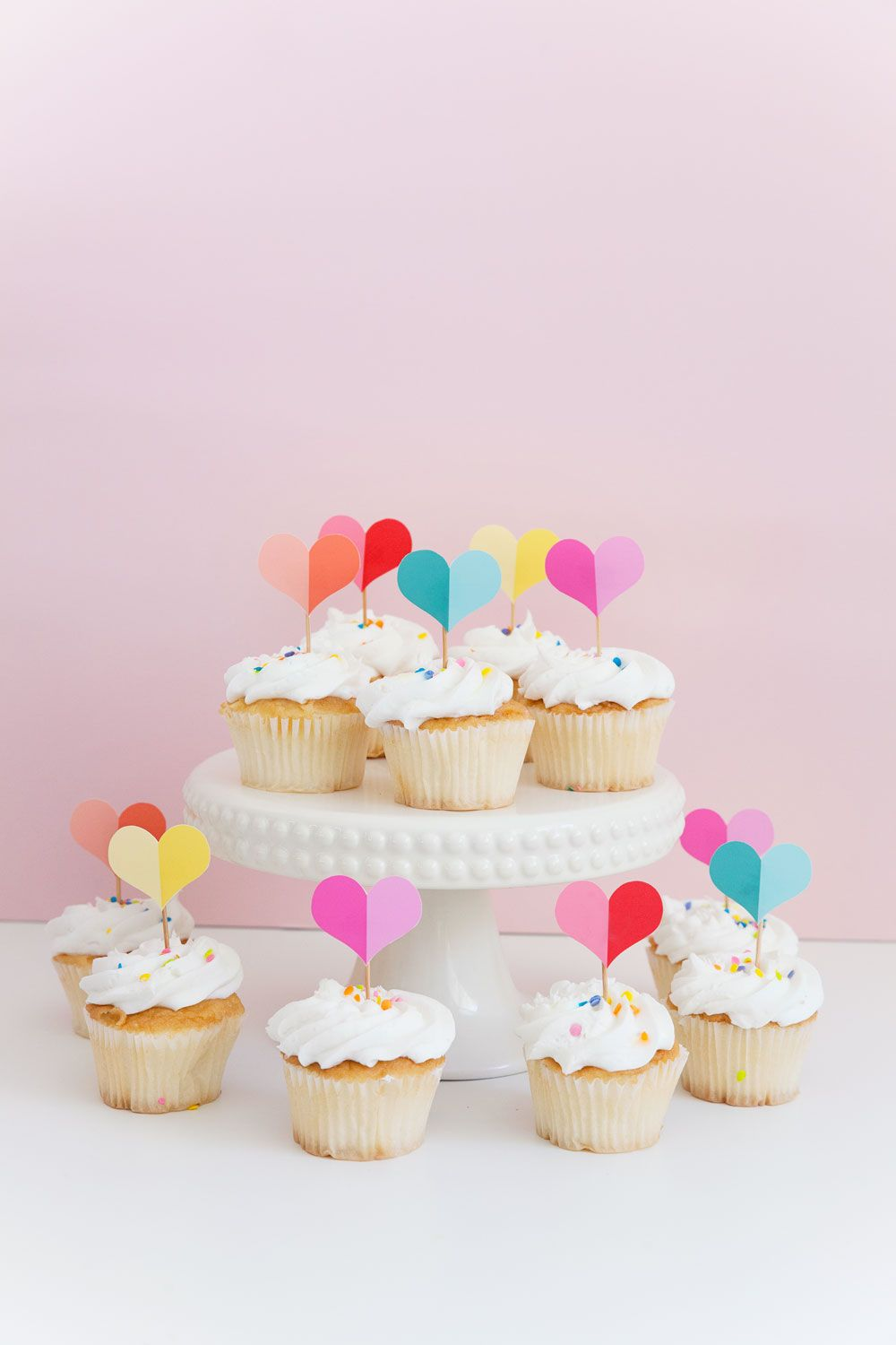 free printable heart cupcake topper free party printables baby rh pinterest com