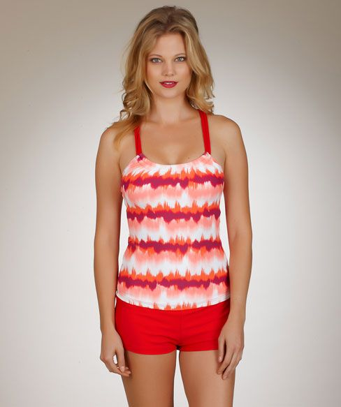 Next Peace Shirred Tankini Swim Top And Swim Short