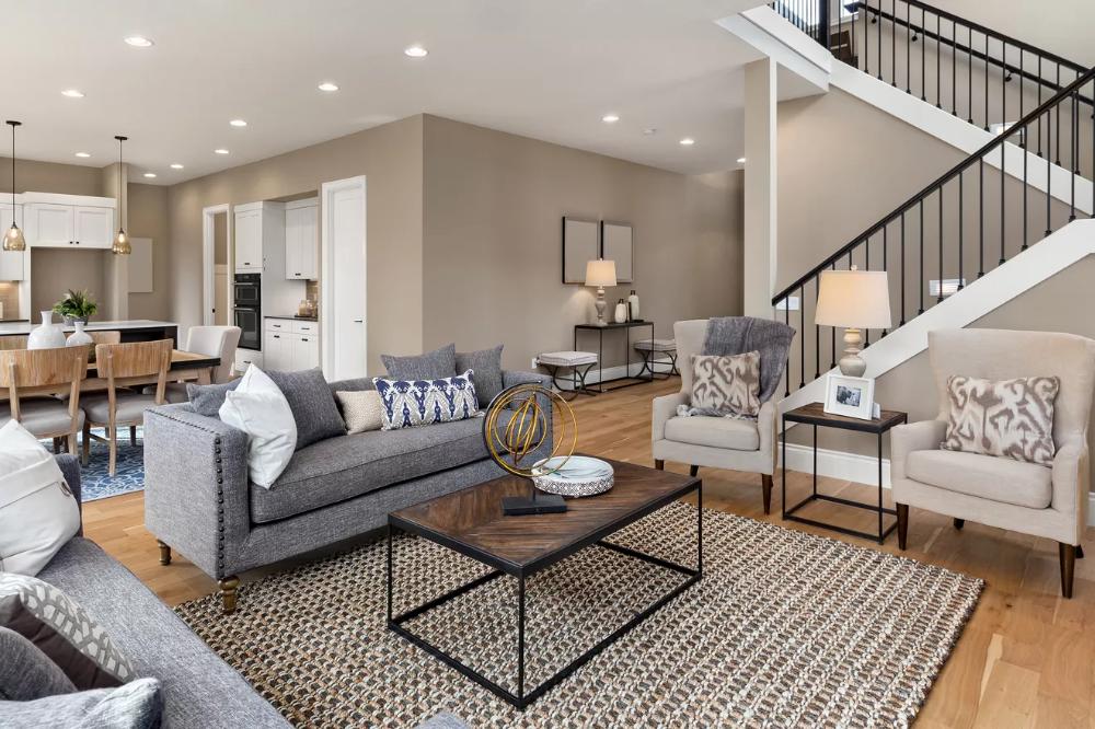 15 Simple Ways To Create An Open Floor Plan Floor Plan Design Furniture Placement Industrial Loft Design