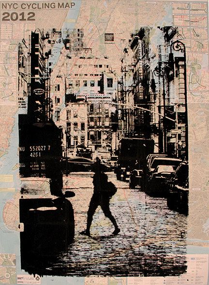 Kevin Marcell\'s New York City Re-Cycling Map - Soho Screenprint on ...