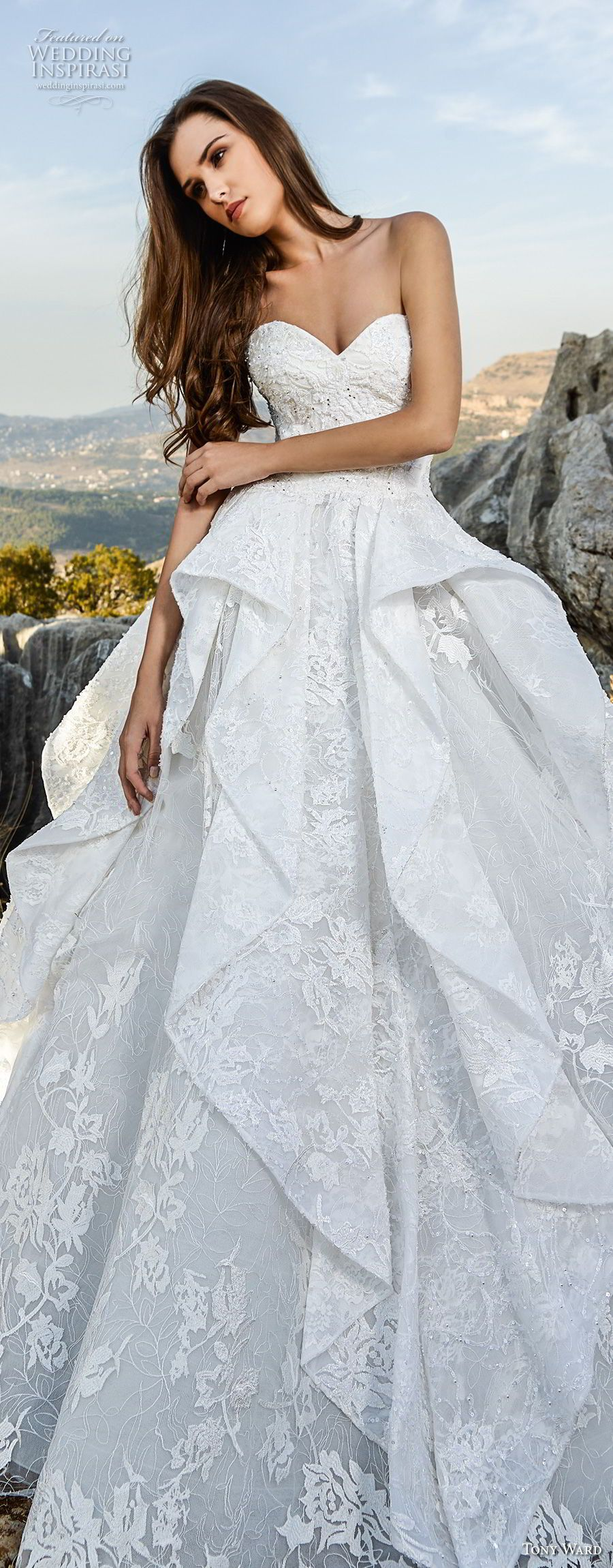Tony Ward La Mariée Fall 2018 Wedding Dresses   Neckline, Romantic ...