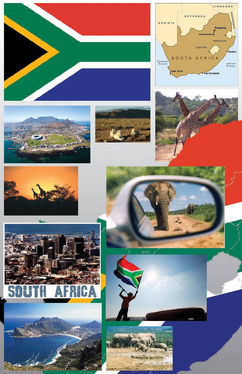 South Africa Travel Agency mood board South Africa Logo