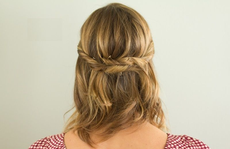 Image result for side twists short hair brown hair