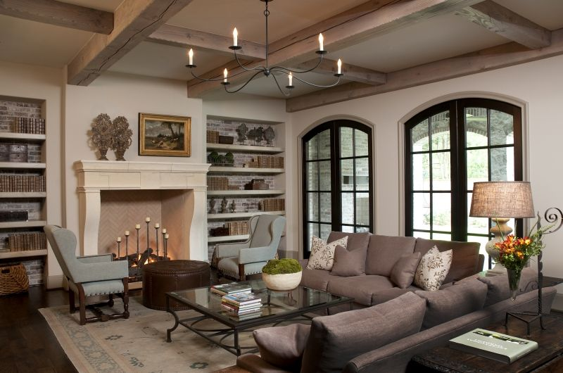 Blalock Forest Living Room Bricked Bookcases Ceiling Detail Muted Tones Hamptons Style Bedrooms Tuscan Design Family Living Rooms #simple #tuscan #living #room