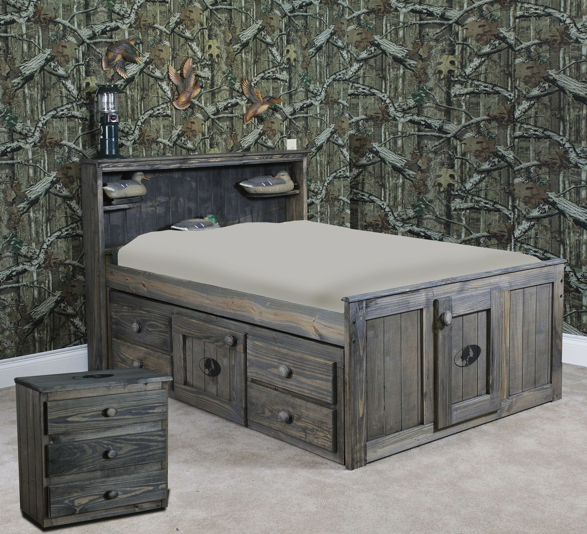 mossy oak captains bed with tons of storage www.sbbed | nativ