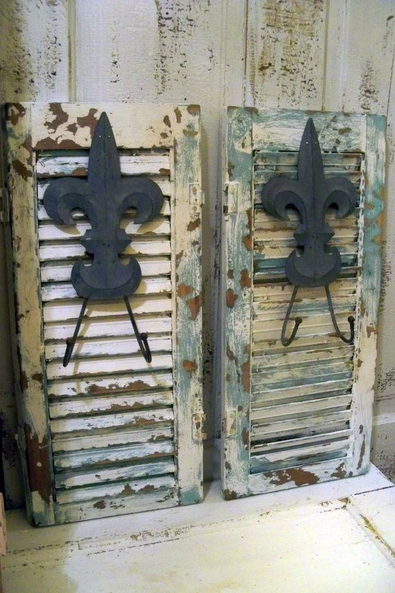 salvaged wood shutters up-cycle what to do with JUNK Pinterest