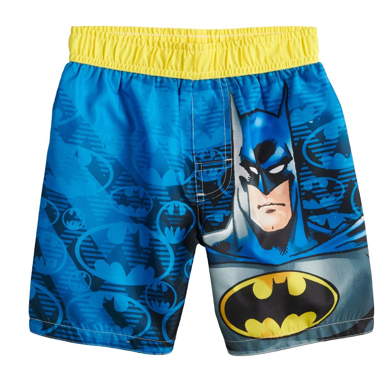 98727b804fadd Toddler Boy DC Comics Batman Swim Trunks #DC, #Boy, #Toddler, #Comics