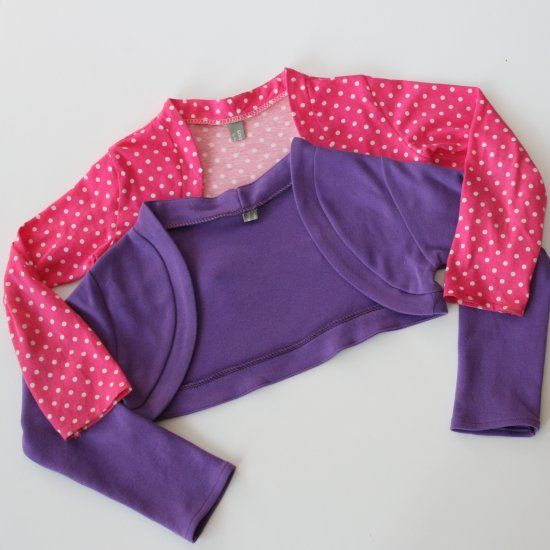 Step-by-step tutorial to make this cute little bolero knit jacket to ...