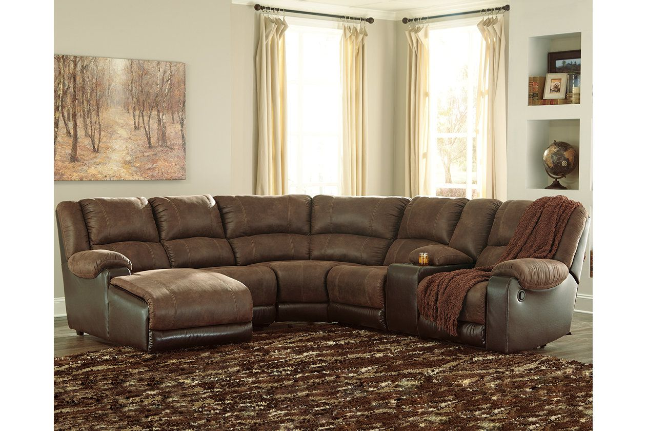 nantahala 6 piece reclining sectional with chaise products rh pinterest com