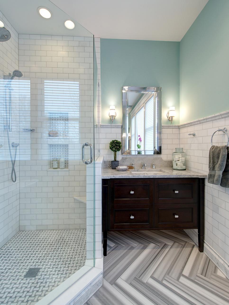 Bathroom designs Bathroom Gets Elegant Eclectic Remodel