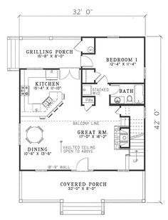 first floor plan of cabin country southern vacation house plan 62118 rh pinterest com