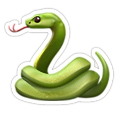 Snake Emoji Sticker By Nerdychick In 2021 Emoji Stickers Emoji Green Emoji