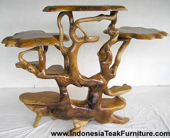 Teak Root Wood Garden Accessories From Indonesia Rustic Home Decor Bowl Planter
