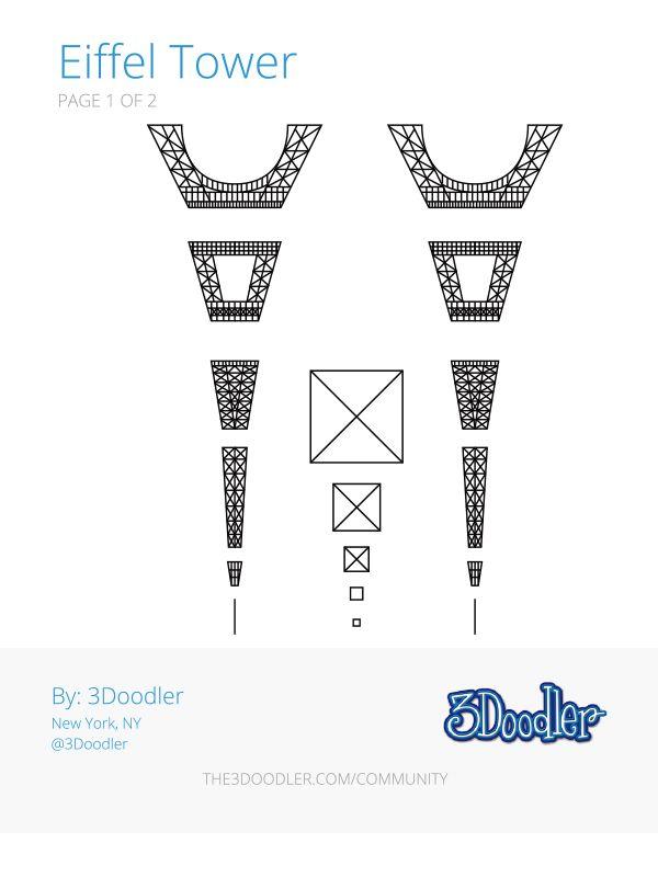 Pin by Patch  Clark Design on MOCA Eiffel Tower Pen art, 3d