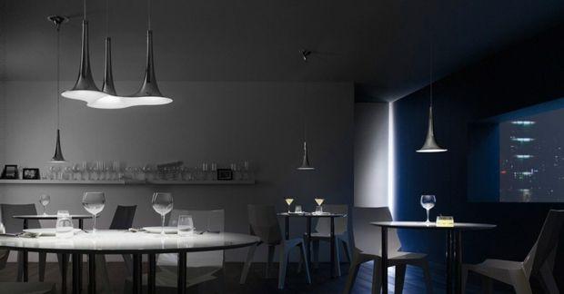 Embellir la salle à manger avec lustre design Color interior and - modele de salle a manger design