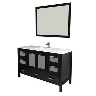 longshore tides andre 60 single bathroom vanity set with mirror rh pinterest com