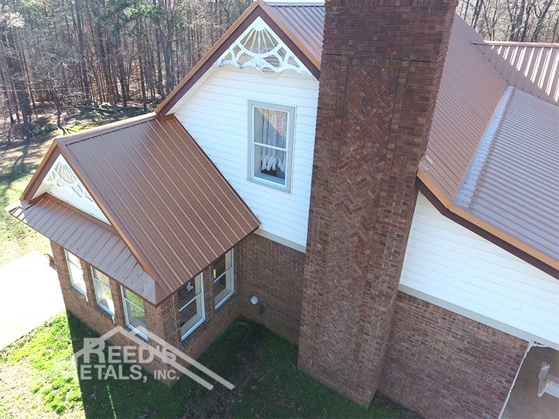 How Great Does This Metallic Copper Look We Stock More Than 20 Colors And You Can Pick Up Same Day Order Today Pi Copper Metal Roof Copper Roof Metal Roof