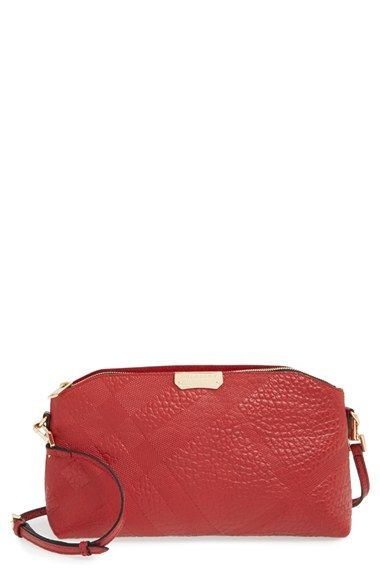 fb72183acd45 Burberry  Small Chichester  Check Embossed Leather Crossbody Bag available  at  Nordstrom