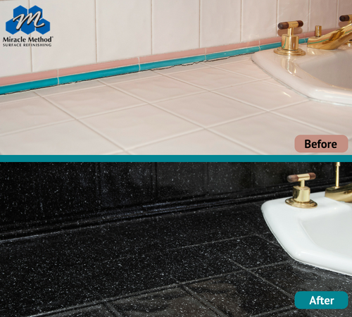 Update Those Outdated Sink Colors For Something Chic Homeremodel Homerenovation Refinishing B Refinish Bathtub Do It Yourself Bathrooms Tile Refinishing