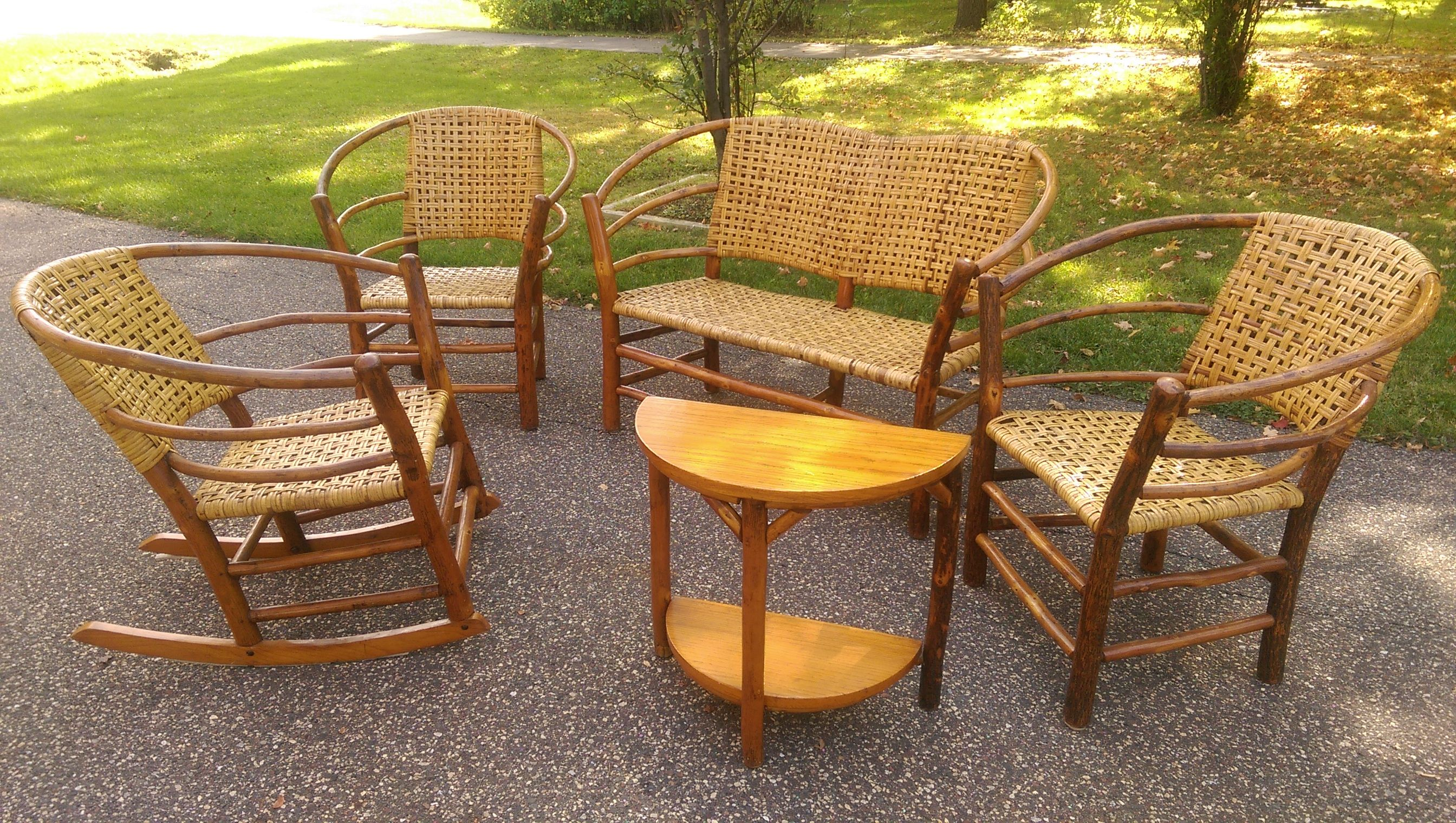 nice set of antique indiana willow furniture set old hickory and rh pinterest com