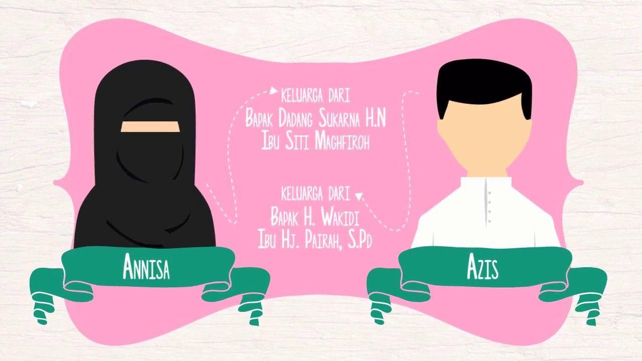 Video Wedding Invitation Moslem Couple Video Wedding