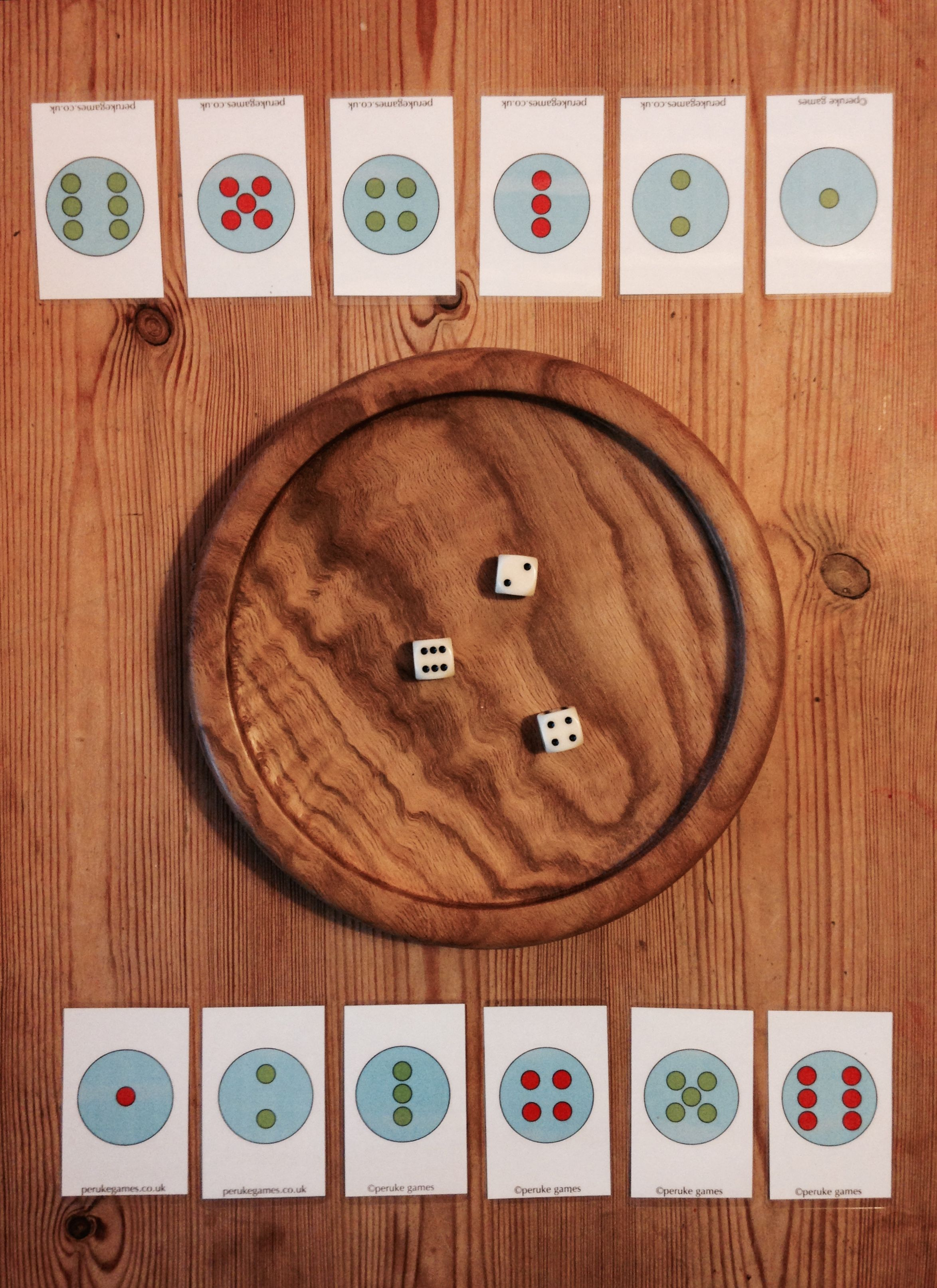 Early prototype of Peruke Family games, Dice games, Games