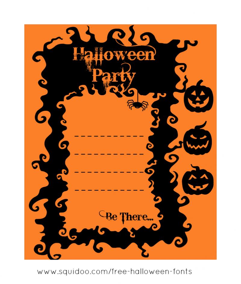 free printable halloween invite