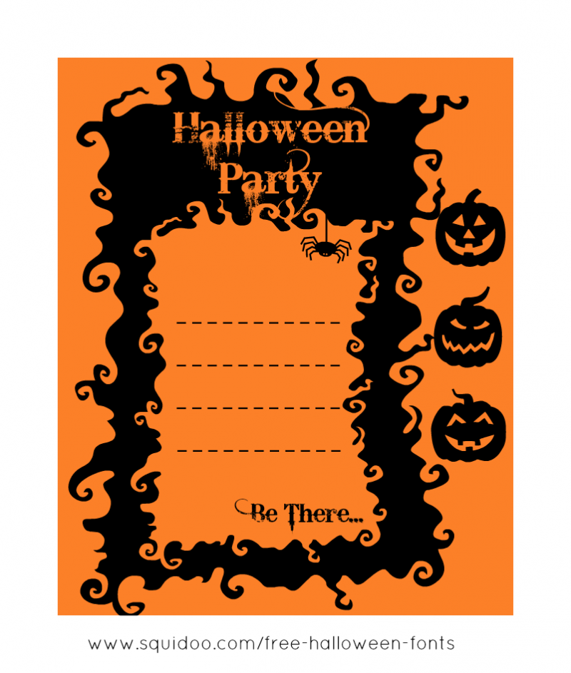 free printable halloween invite free printable halloween rh pinterest com