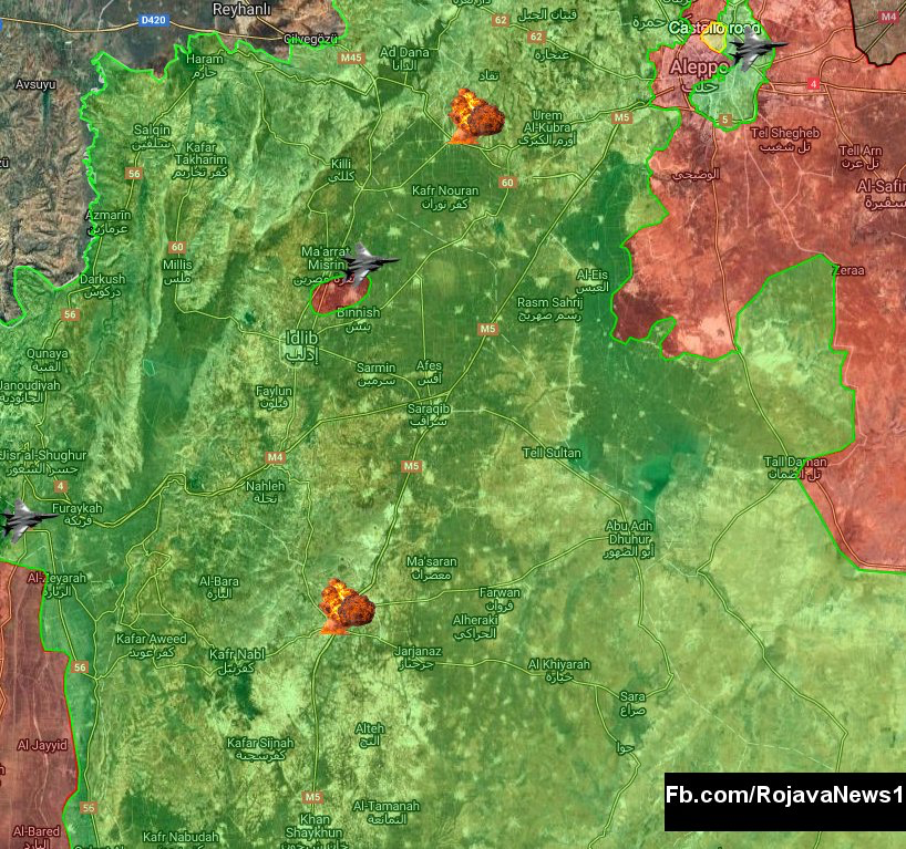 3d Map Aleppo SAA established fire control