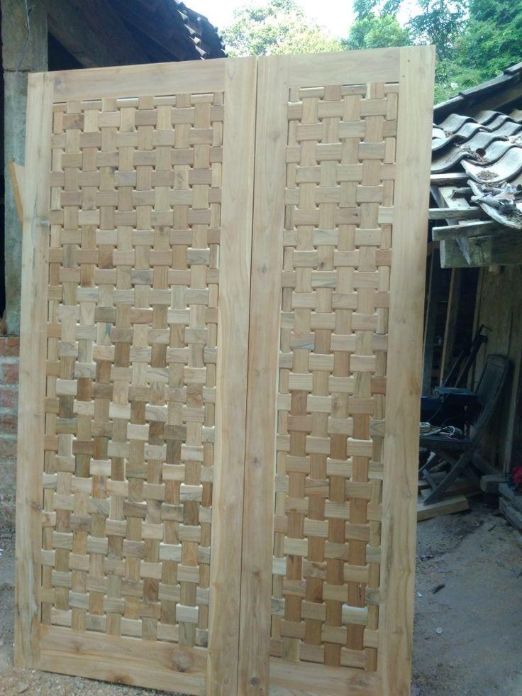 Teak wood door- Pintu kayu jati  Teak wood door   -#plainWoo…
