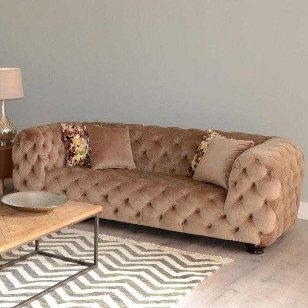 sofá chester terciopelo marrón | Tiendas On | Muebles estilo vintage ...
