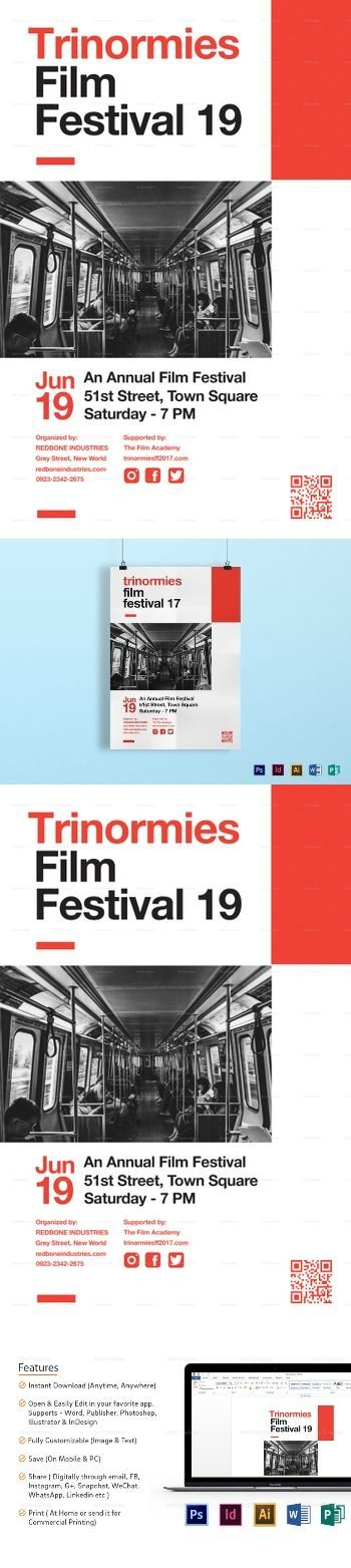film festival poster template poster templates editable