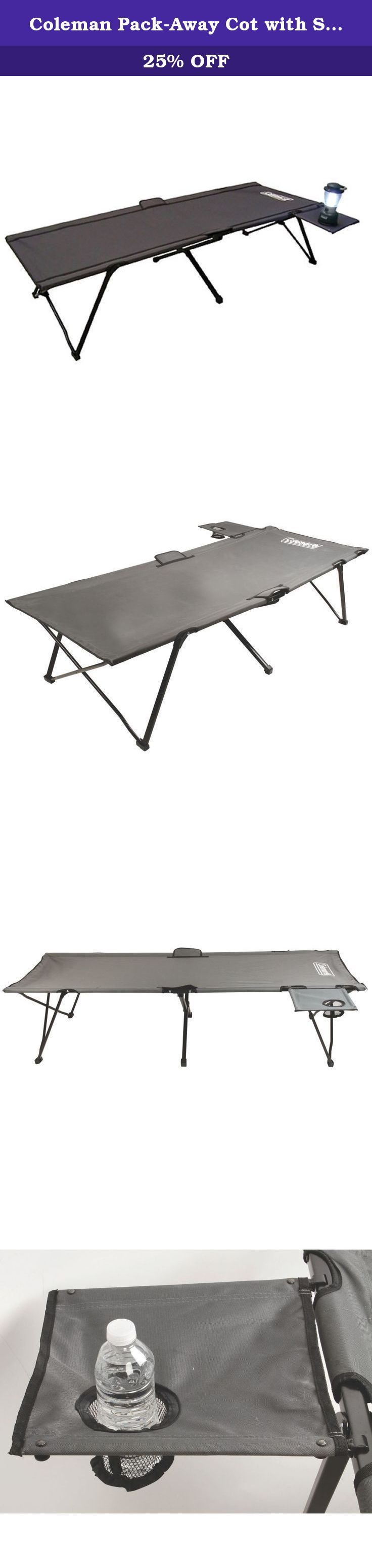 coleman pack away cot with side table take the perfect spot to rest rh pinterest com
