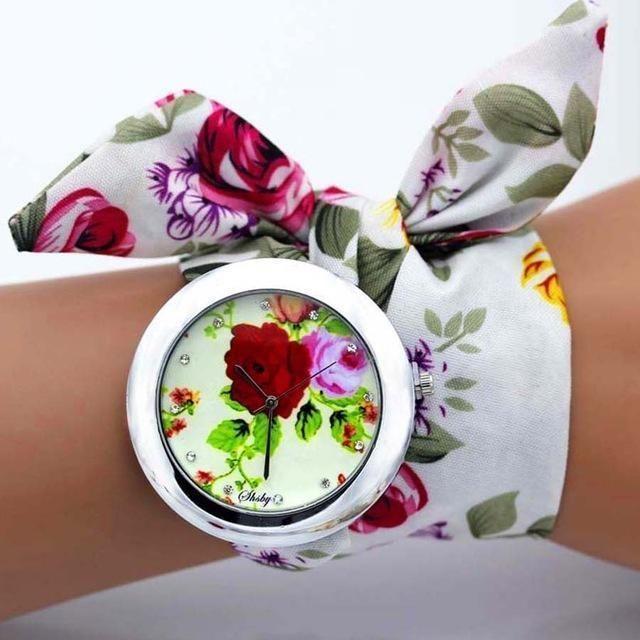 Shsby Design Ladies Flower Cloth Wristwatch Women Dress Watch High Quality Fabric Watch Epic World