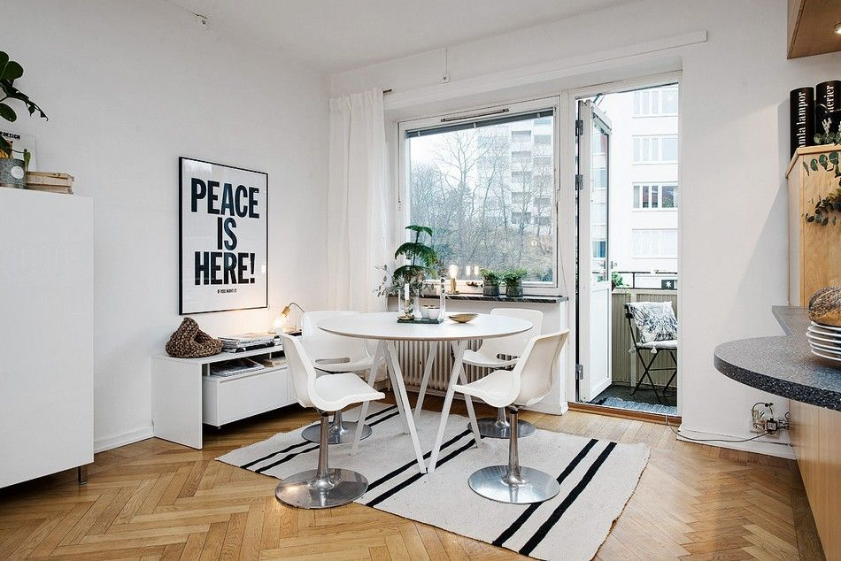 Bright Two Room Apartment in Sweden Exhibiting an