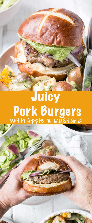 Photo of Apple Mustard Pork Burgers – My Kitchen Love – Grilling/smok…
