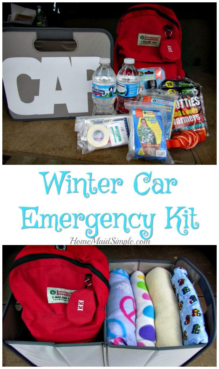 Winter Car Emergency Kit | Home Maid Simple
