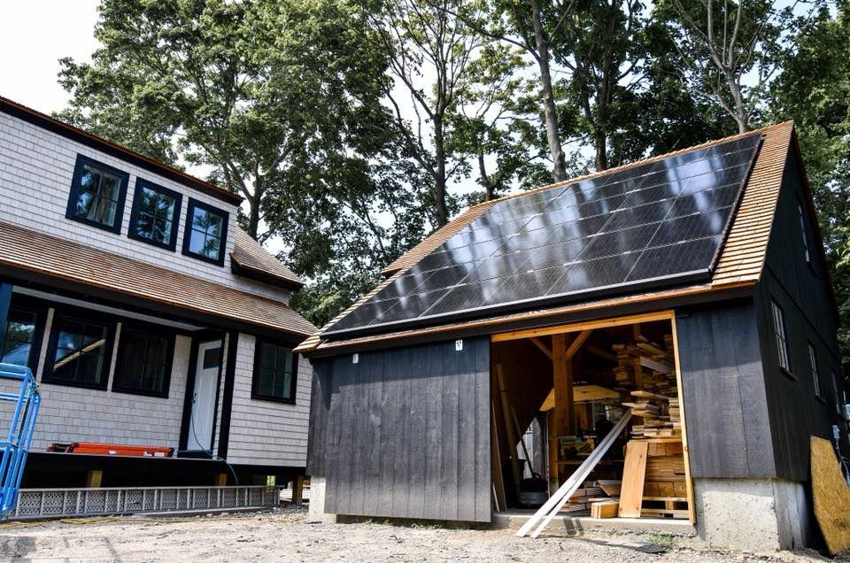 Jamestown Net Zero House Vivint Solar New England Cottage House