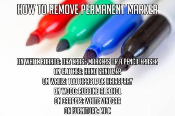 Permanent Marker Removal Useful Life Hacks Simple Life Hacks