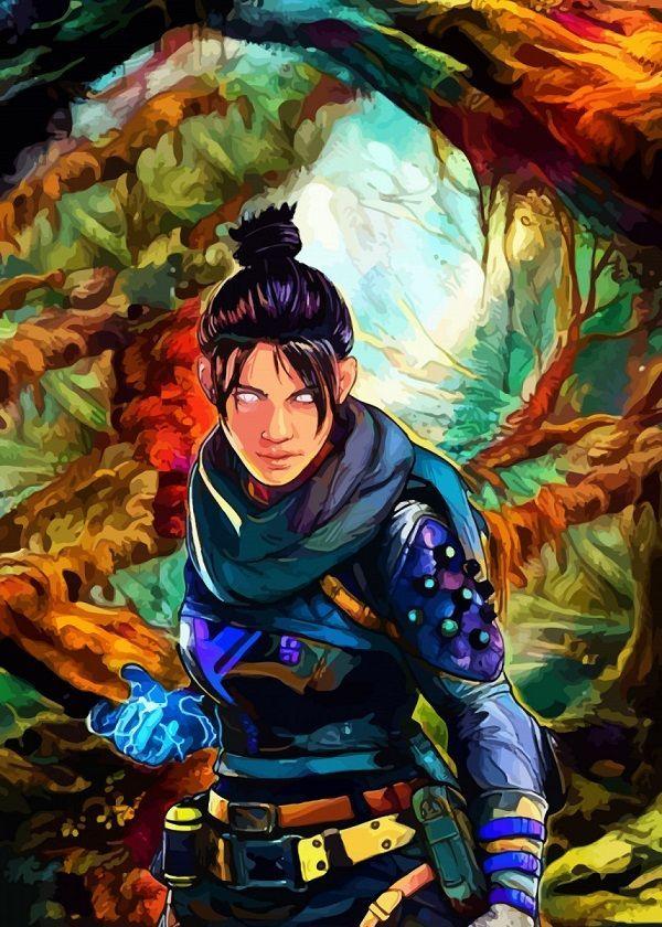 """Apex Legends Colourful Character Portraits Wraith #Displate explore Pinterest""""> #Displate explore Pinterest""""> #Displate explore…   Displate thumbnail"""