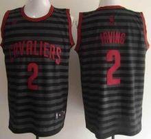 Cleveland Cavaliers 2 Kyrie Irving Grey Whith Black Strip Revolution 30  Swingman NBA Jerseys Wholesale Cheap 58f568713