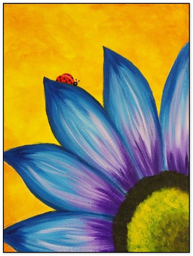 54 Easy Acrylic Painting Ideas For Beginners To Try Easy Canvas