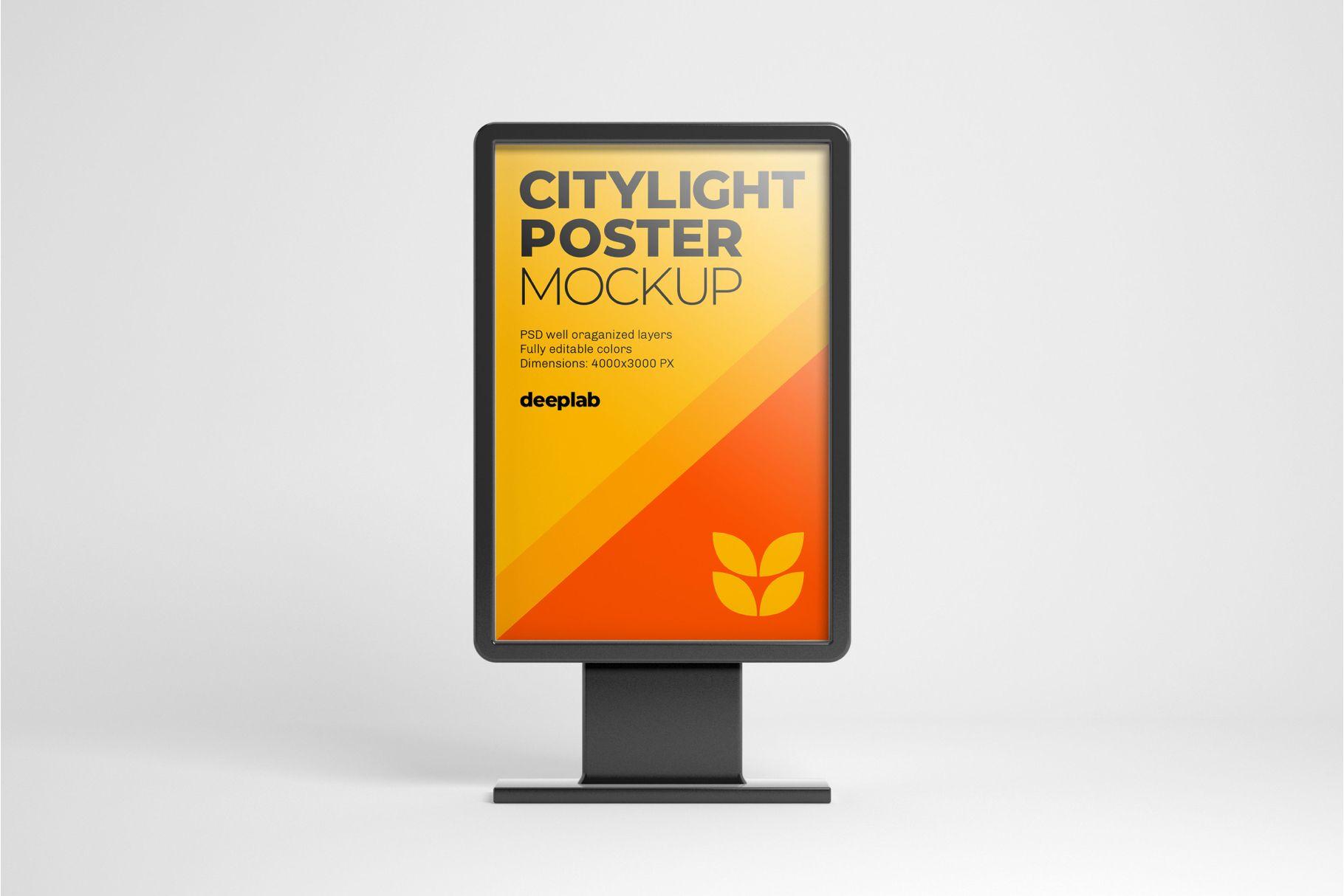 Citylight Digital Poster Mockup Poster Mockup Poster Mockup Psd Outdoor Advertising Mockup