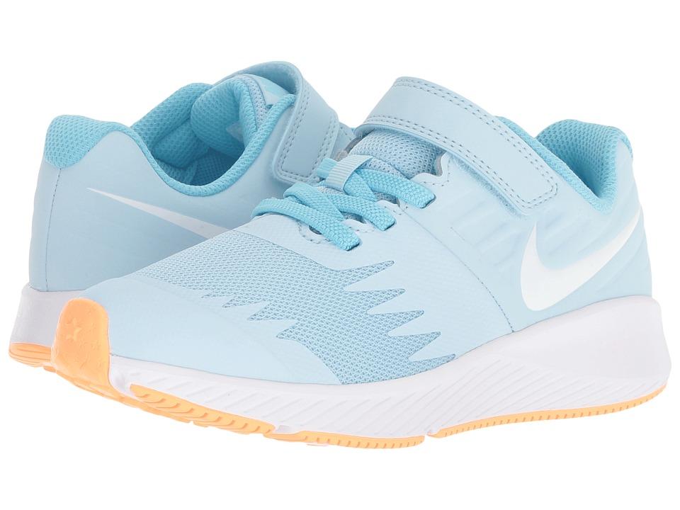 83d07d80 Nike Kids Star Runner (Little Kid) Girls Shoes Cobalt Tint/White ...