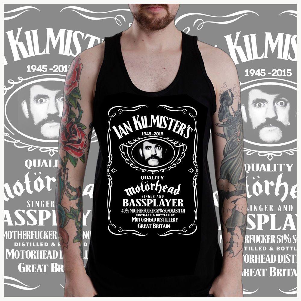 RIP Lemmy Kilmister jack Daniels Memorial vest tshirt tee